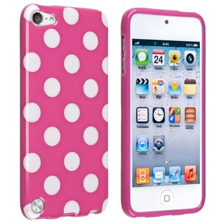BasAcc Hot Pink/ White IMD TPU Case for Apple iPod Touch Generation 5