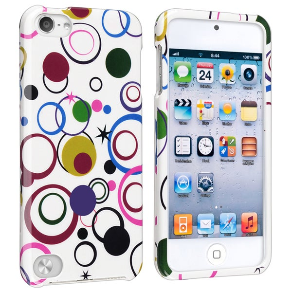 Insten Colorful Circles Hard Snap-on Rubberized Matte Case Cover For Apple iPod Touch 5th/ 6th Gen