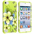 INSTEN Green/ White Flower iPod Case Cover for Apple iPod Touch 5th Generation