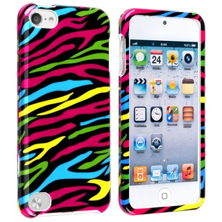 BasAcc Black/ Colorful Zebra Case for Apple iPod Touch 5th Generation