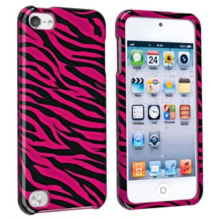 BasAcc Hot Pink/ Black Zebra Case for Apple iPod Touch 5th Generation