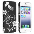 BasAcc Black Butterfly Style 20 Rubber Coated Case for Apple iPhone 5