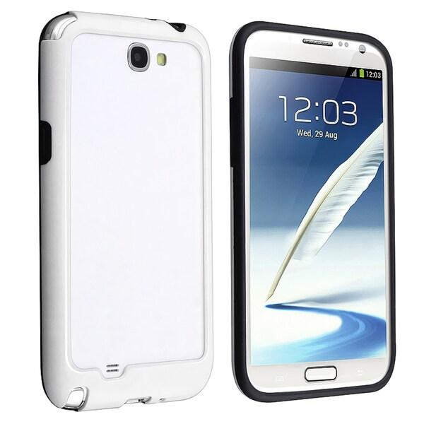 BasAcc Black/ White Bumper Case for Samsung Galaxy Note II N7100