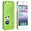 BasAcc Green Panda Rear Snap-on Rubber Coated Case for Apple iPhone 5