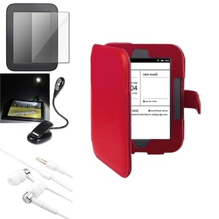 INSTEN Red Phone Case Cover/ Protector/ Light/ Headset for Barnes & Noble Nook 2