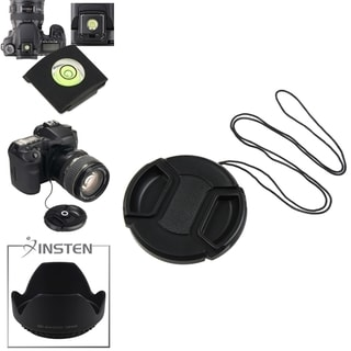 INSTEN Lens Cap/ Holder/ Hood/ Spirit Level Cover for Canon 58-mm