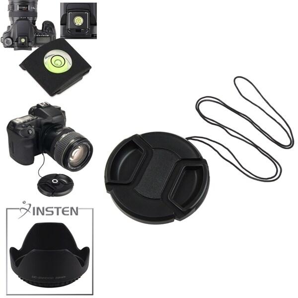 INSTEN Lens Cap/ Holder/ Hood/ Spirit Level Cover for Canon 58-mm