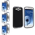 BasAcc TPU Case/ Mirror Screen Protector for Samsung Galaxy S III/ S3