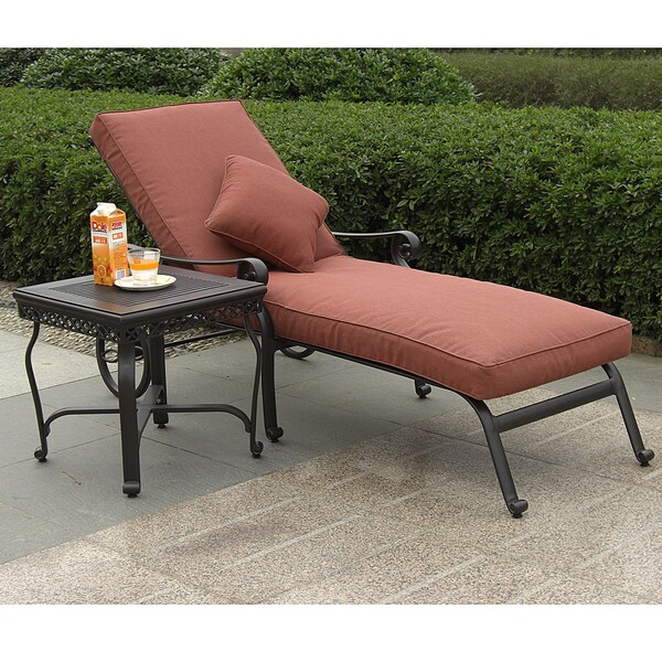 Santa Maria Outdoor Single Chaise with End Table