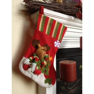 Ski Reindeer Christmas Stocking