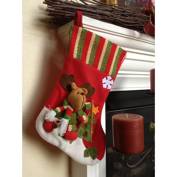 Ski Reindeer Christmas Stocking