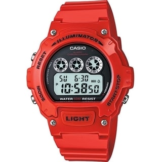 Casio Men's W214HC-4AV Red Wrist Watch