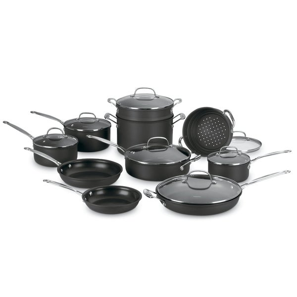 Cuisinart Chefs Classic 17-piece Nonstick Hard-anodized Cookware Set