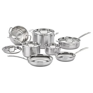Cuisinart Multiclad Pro Triple Ply Perp Stainless 12-piece Cookware Set