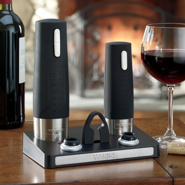 waring pro wc400 rechargeable wine opener and preserver 15013601 overstoc. Black Bedroom Furniture Sets. Home Design Ideas