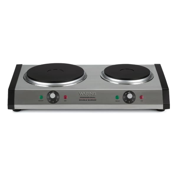 Waring Pro DB60 Brushed Stainless Steel Portable Double Burner