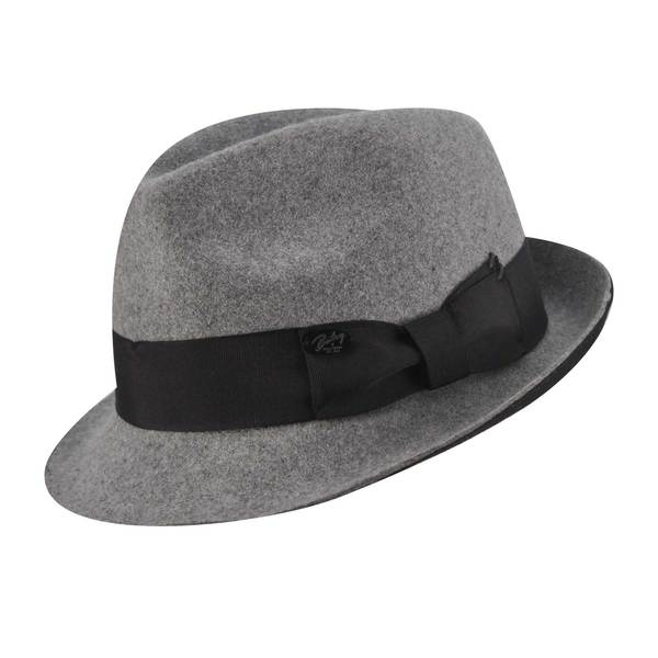 Bailey of Hollywood Men's Grey/ Black Fedora Hat