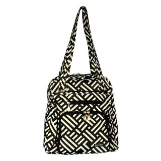 Jenni Chan Women's Black and White Signature Soft Gym Tote Bag