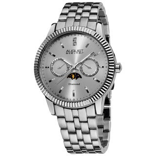 August Steiner Men's Swiss Quartz Multifunction Diamond Watch