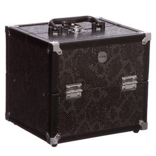 SOHO Black Snake Print Beauty Case
