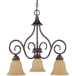 Nuvo 'Moulan' 3-light Energy Star Copper Bronze Chandelier