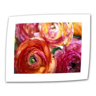 Kathy Yates 'Ranunculus Close-up' Small Canvas Art