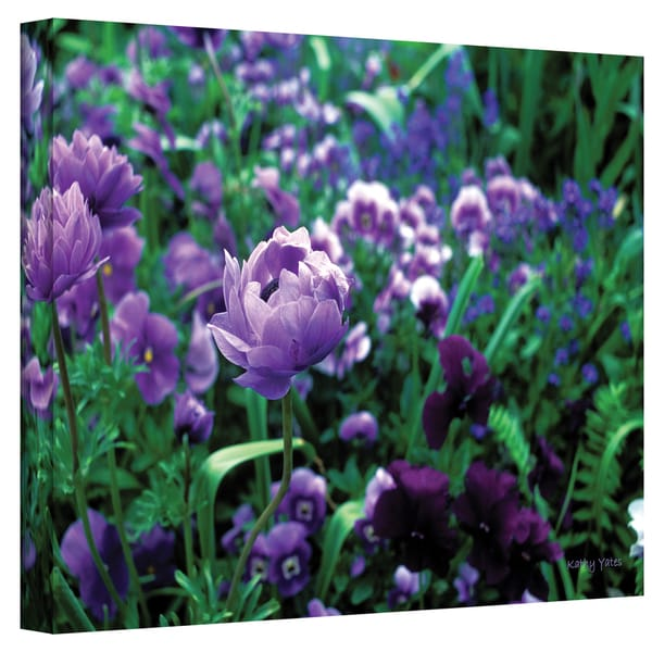Kathy Yates 'Poppies in Monet's Garden' Canvas Art