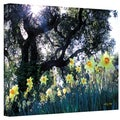 Kathy Yates 'Daffodils and the Oak' Canvas Art