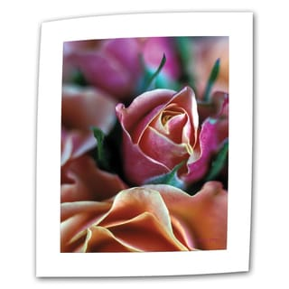 Kathy Yates 'Mauve and Peach Roses' Small Canvas Art