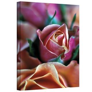 Kathy Yates 'Mauve and Peach Roses' Canvas Art