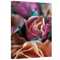 Kathy Yates 'Mauve and Peach Roses' Canvas Art