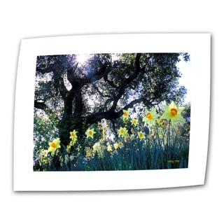 Kathy Yates 'Daffodils and the Oak' Small Traditional Canvas Art