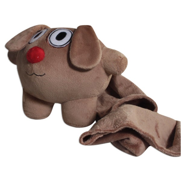 Bubele Patch Buddies Trusty Dog 7-inch Plush Toy with Blanket