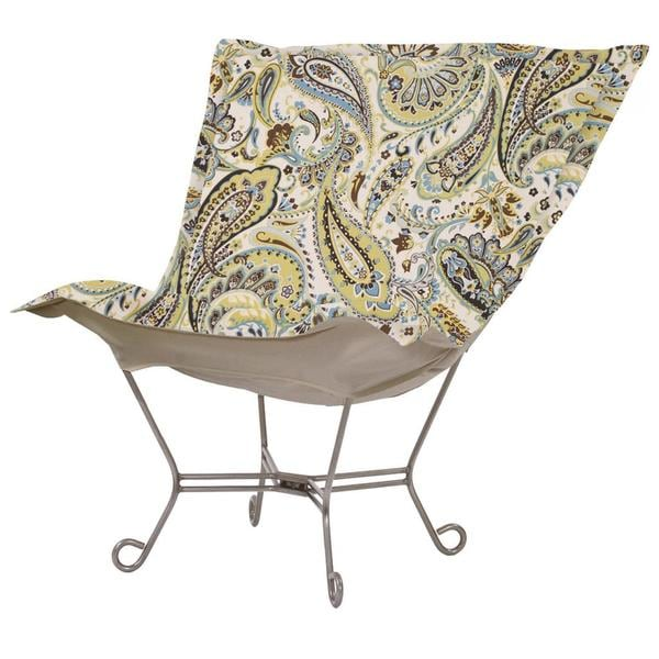 Blue/ Green Paisley Heavenly Chair