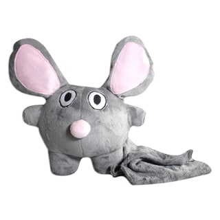 Bubele Patch Buddies Loyal Mouse Soft Plush Toy with Blanket
