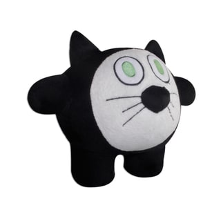 Bubele Patch Buddies 7-inch Curious Cat Soft Plush Toy with Blanket