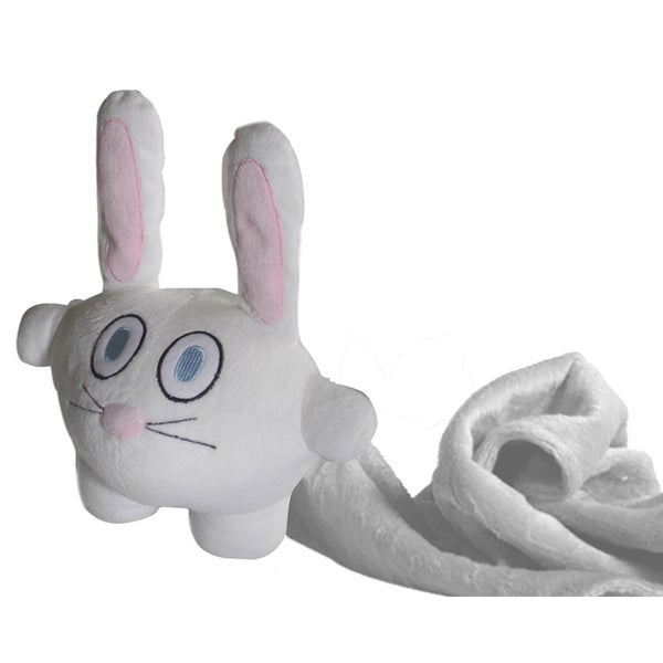 Funny Bunny 7-inch Plush Toy with Blanket