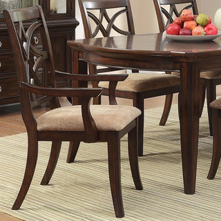 TRIBECCA HOME Cheshire Rich Espresso 7-piece Traditional Dining Set