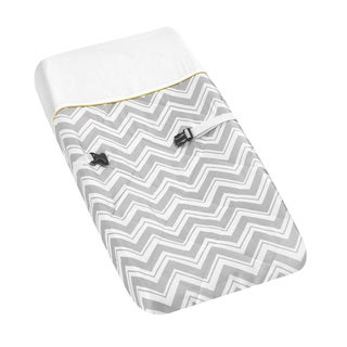 Sweet JoJo Designs Yellow and Grey Zig Zag Changing Pad Cover
