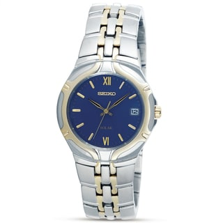 Seiko Men's Two-tone Steel Solar Watch