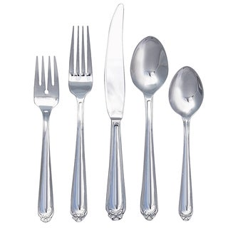 Ginkgo Bonnie 42-piece Stainless Steel Flatware Set