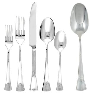 Ginkgo Woodruff 42-piece Stainless Steel Flatware Set