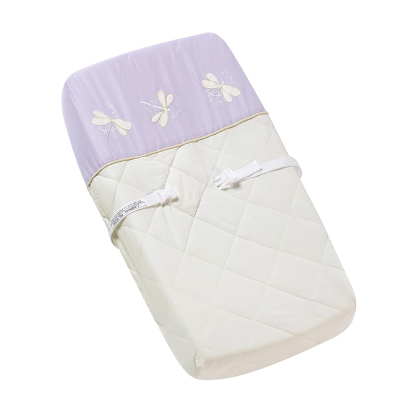 Sweet JoJo Designs Purple Dragonfly Dreams Changing Pad Cover