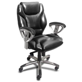 Mayline Ultimo Leather Series Mid-Back Executive Chair with Synchro-Tilt