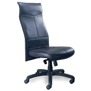 Mayline Mercado Leather Series Silhouette High-Back Executive Chair