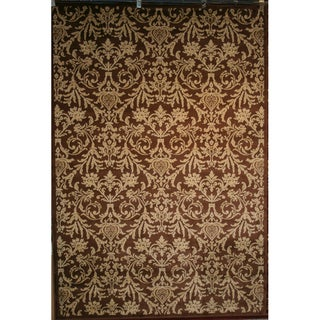 Damask Brown Rug (7'10 x 9'10)