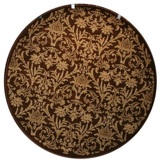Damask Brown Rug (5'3 Round)