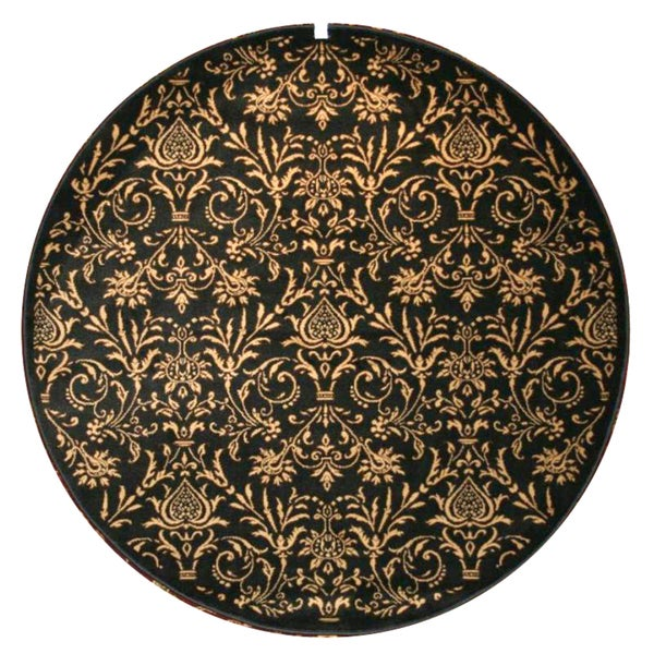 Damask Black Rug (5'3 Round)
