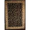 Veronica Black Area Rug (5'3 x 7'7)