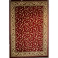 Traditional Scroll Red Veronica Area Rug (5'3 x 7'7)